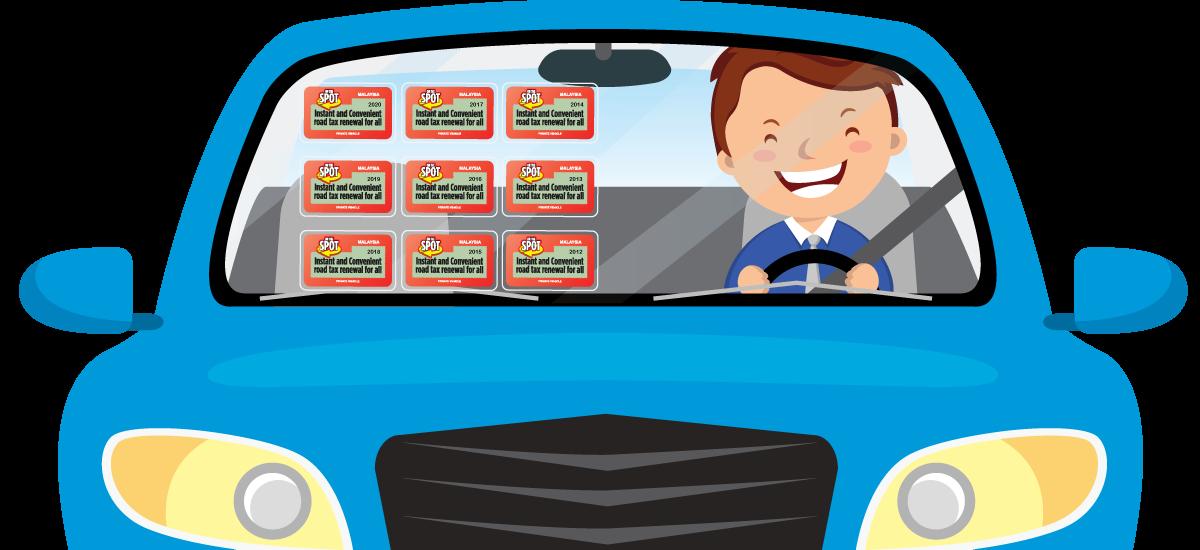 Car Window Sticker / Road Tax Sticker
